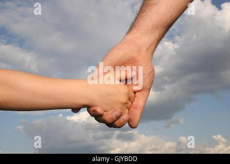 hand hands reach - Stock Photo