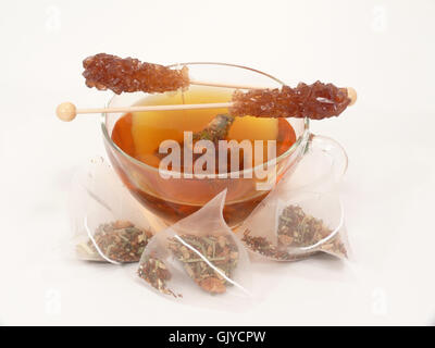 candy tea time cup - Stock Photo