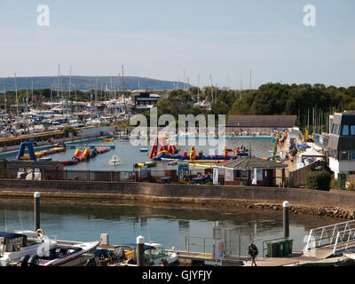 Lymington Sea Water Swimming Pool Lymington Hampshire UK - Stock Photo