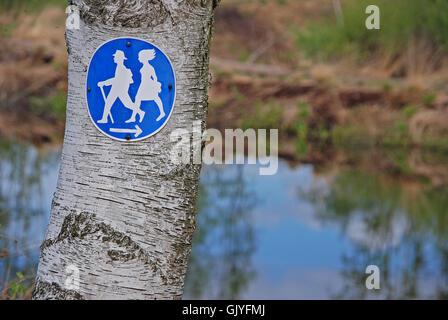 sign signal hike - Stock Photo