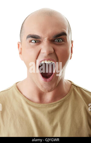 angry man screeming - Stock Photo