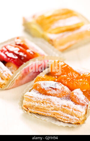 apricot danish pastries stock photo, royalty free image