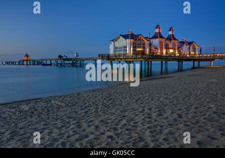 evening pier sellin - Stock Photo