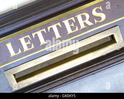 vintage mailbox post - Stock Photo