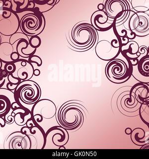 floral pattern purple tapen - Stock Photo