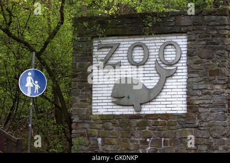 park entrance zoo - Stock Photo