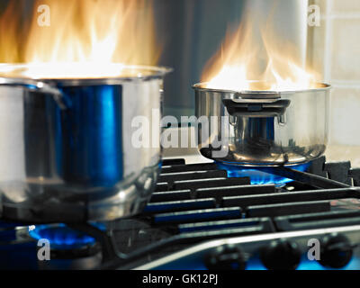 accident boil cooks - Stock Photo