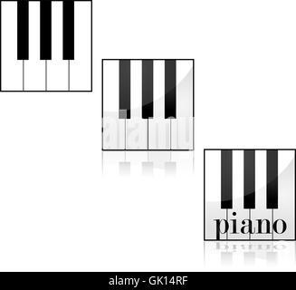 Piano icons - Stock Photo
