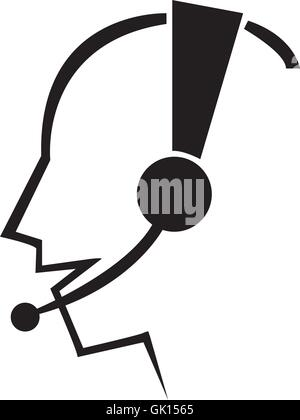 Man Headset - Stock Photo