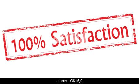 One hundred percent satisfaction - Stock Photo