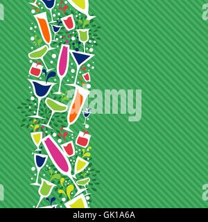 Cocktail drink seamless pattern background - Stock Photo