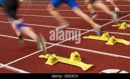 contest motion blur athletics - Stock Photo