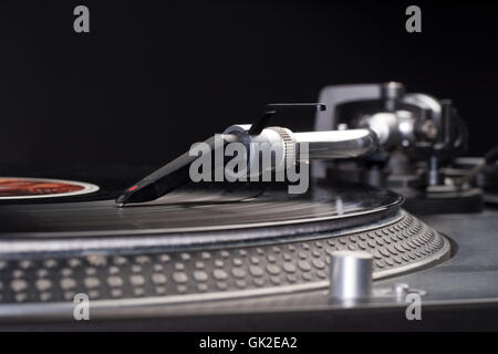 turntable vinyl player - Stock Photo