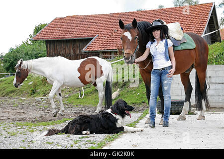 at the riding - Stock Photo