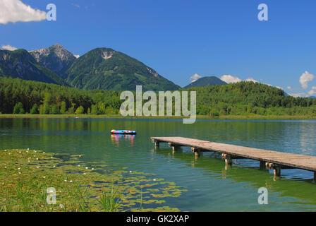 austrians carinthia lake for bathing - Stock Photo