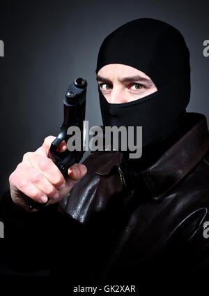 balaclava criminal terrorist - Stock Photo