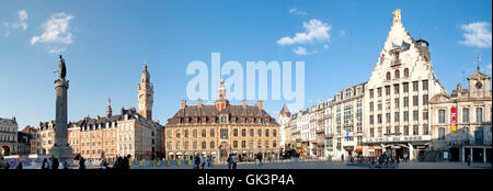 france square style of construction - Stock Photo