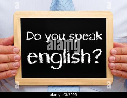 do you speak english ? - Stock Photo