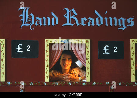 Traditional seaside palm reader. Hastings. East Sussex. England. UK - Stock Photo