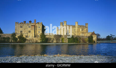 Leeds Castle. Kent. England. UK - Stock Photo
