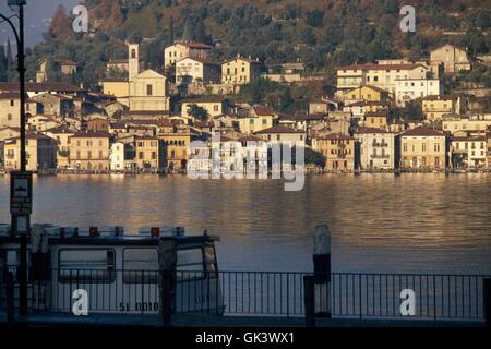 Italy, Lombardy region, Iseo lake, the Peschiera Maraglio village on Montisola island - Stock Photo