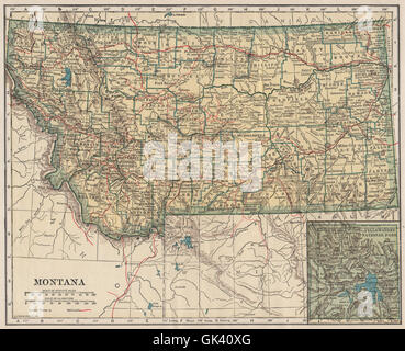 Montana (inset Yellowstone National Park) State Highways. POATES ...