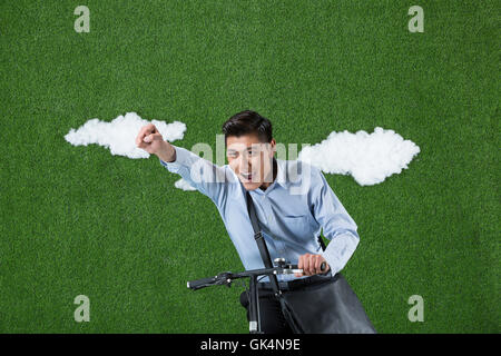 Grassland creative business man - Stock Photo