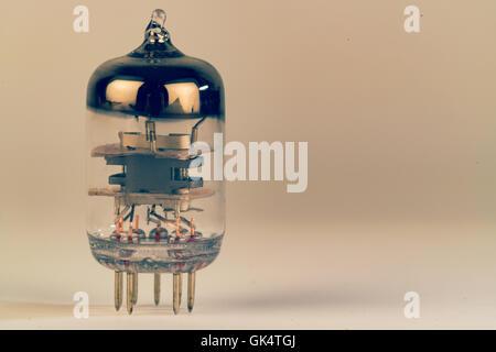 Radio vacuum tube, electronic bulb - Stock Photo