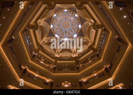 2006, Abu Dhabi, United Arab Emirates --- Atrium at Emirates Palace Hotel --- Image by © Jeremy Horner - Stock Photo