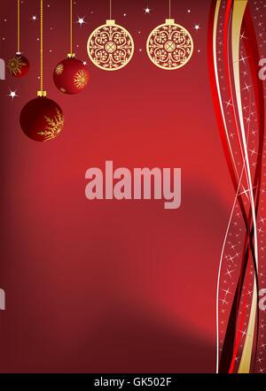 christmas christmas card gold - Stock Photo