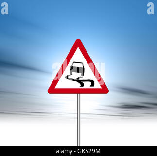 sign signal danger - Stock Photo