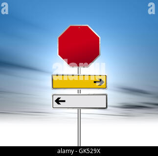 sign signal signpost - Stock Photo
