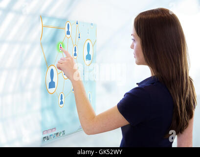 woman future communication - Stock Photo