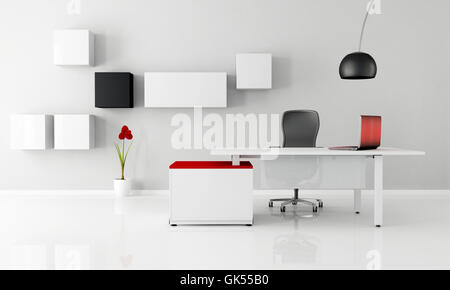 office desk furniture - Stock Photo