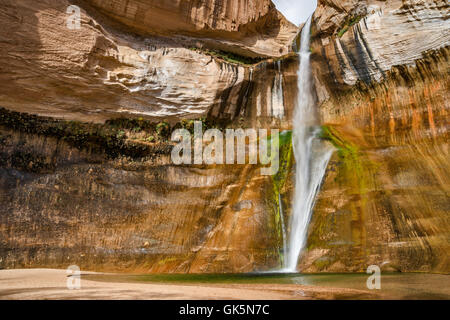 Lower Calf Creek Falls, Grand Staircase-Escalante National Monument, Utah, USA - Stock Photo