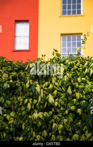 Coloured buildings in the grounds of Dublin Castle, Ireland - Stock Photo