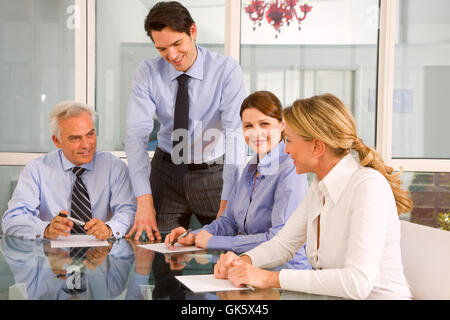 woman office laugh - Stock Photo