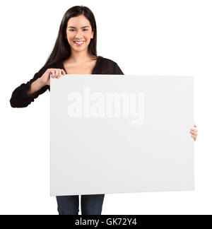 woman space blank - Stock Photo