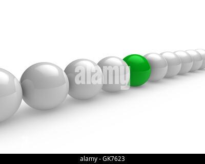 ball sphere white - Stock Photo