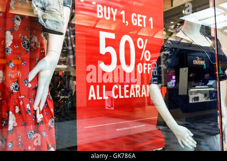 Naples Florida Coastland Center Shopping Mall shopping center shopping retail Torrid Clothing Store women's clothing - Stock Photo