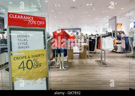 Naples Florida Coastland Center Shopping Mall shopping center shopping retail Lane Bryant store chain women's clothing - Stock Photo