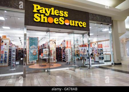 Naples Florida Coastland Center Shopping Mall shopping center shopping retail Payless ShoeSource shoes discount - Stock Photo