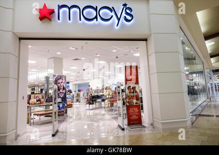 Naples Florida Coastland Center Shopping Mall shopping center shopping retail Macy's department store chain sign - Stock Photo