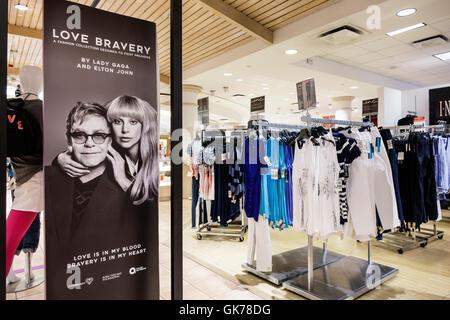 Naples Florida Coastland Center Shopping Mall shopping center shopping retail display Macy's department store chain - Stock Photo