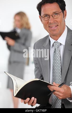 bank lending institution male - Stock Photo