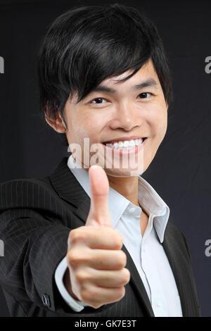 hand watch asian - Stock Photo