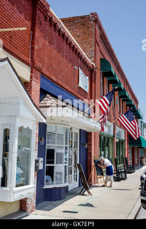 Storefront in the downtown tourist district in Lake Placid ...