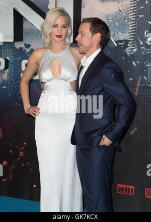 The UK premiere and fan screening of 'X-Men: Apocalypse' at the BFI IMAX - Arrivals  Featuring: Jennifer Lawrence, - Stock Photo