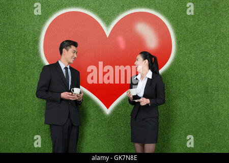 Grassland business office romance - Stock Photo