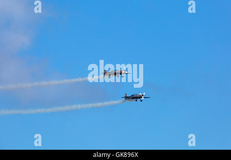 Bournemouth, UK. 19 August 2016. The Blades perform at the Bournemouth Air Festival.  Credit:  Carolyn Jenkins/Alamy - Stock Photo